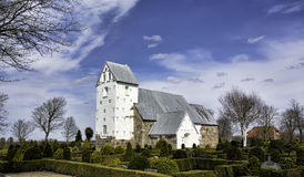 Iglesia medieval en Vester Nebel, Esbjerg, Dinamarca Imagen de archivo libre de regalías