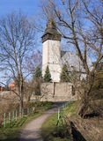 Iglesia medieval, Siedlecin, Polonia Foto de archivo libre de regalías