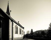Iglesia medieval vieja de la abadía en Alsacia Fotografía de archivo libre de regalías