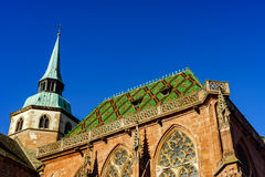 Iglesia medieval vieja de la abadía en Alsacia Imagen de archivo