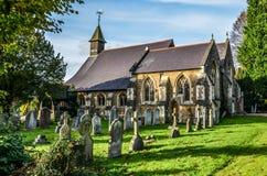 Iglesia Milford del pueblo en Surrey Fotos de archivo libres de regalías