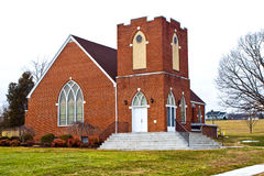 Iglesia moderna del ladrillo Fotos de archivo libres de regalías