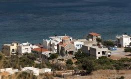 Iglesia moderna en ciudad de la playa crete Foto de archivo libre de regalías