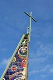 Iglesia moderna - torre imagen de archivo libre de regalías