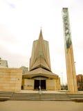 Iglesia moderna Zagreb Croatia del estilo de Zupa-kazotic Fotos de archivo