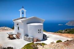 Iglesia de Monolithos Fotografía de archivo
