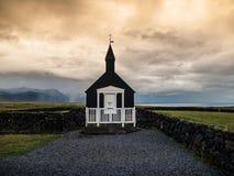 Iglesia negra Imágenes de archivo libres de regalías