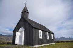 Iglesia negra de Buðir, borde meridional del Snæfellsness 3 peninsulares Imágenes de archivo libres de regalías
