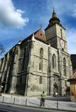 Iglesia negra en Brasov imagen de archivo libre de regalías