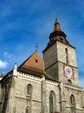Iglesia negra en Brasov Rumania Imagen de archivo libre de regalías