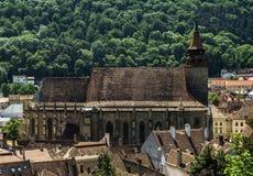 Iglesia negra vista después de las paredes Imágenes de archivo libres de regalías
