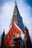 Iglesia noruega Chicago histórica imagen de archivo