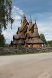 Iglesia Noruega del bastón de Heddal imagen de archivo