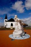 Iglesia noruega en la bahía de Cardiff, País de Gales. Imagen de archivo libre de regalías