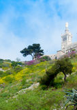 Iglesia Notre Dame de la Garde, Marsella Imágenes de archivo libres de regalías