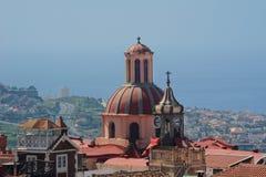 Iglesia Nuestra Senora de la Concepcion, La Orotava, Tenerife, Canary Islands. Horizontal shot of the dome of Nuestra Senora de la Conception church, with views Stock Photos