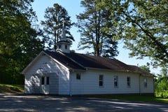 Iglesia occidental del país de la montaña del NC Imagenes de archivo