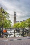 Iglesia occidental en Amsterdam, Países Bajos Fotos de archivo