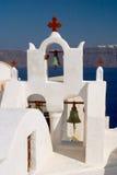 Iglesia Oia Santorini Grecia Imagen de archivo