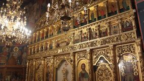 Iglesia ortodoxa - altar Imagen de archivo libre de regalías