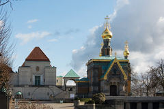 Iglesia ortodoxa de Darmstad imágenes de archivo libres de regalías