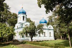 Iglesia ortodoxa de la transfiguración de Cristo de Cesis Foto de archivo