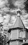 Iglesia ortodoxa de madera Derzhavnaya, Moscú imagen de archivo libre de regalías