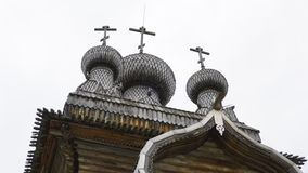 Iglesia ortodoxa de madera vieja Fotografía de archivo libre de regalías
