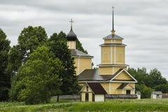 Iglesia ortodoxa de San Jorge en Pushkinskiye sangriento Fotos de archivo