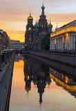 Iglesia ortodoxa de St Petersburg Foto de archivo libre de regalías