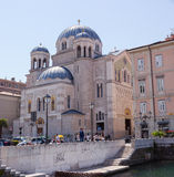 Iglesia ortodoxa de St Spyridon, Trieste Imagen de archivo libre de regalías