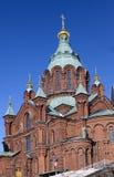 Iglesia ortodoxa de Uspenski en Helsinki, Finlandia, Europa Fotografía de archivo libre de regalías