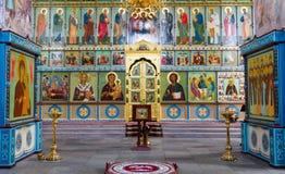 Iglesia ortodoxa del altar Imágenes de archivo libres de regalías