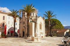 Iglesia ortodoxa del arcángel Michael Herceg Novi, Montenegro Fotos de archivo