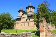 Iglesia ortodoxa del Curtea complejo monumental Domneasca, Targ foto de archivo libre de regalías