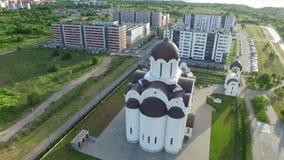Iglesia ortodoxa del icono de la madre de dios almacen de video
