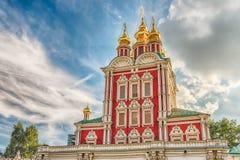 Iglesia ortodoxa dentro del convento de Novodevichy, señal icónica en M Fotografía de archivo libre de regalías