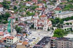 Iglesia ortodoxa en Berat, Albania Imágenes de archivo libres de regalías