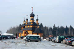 Iglesia ortodoxa en Dudutki, región de Minsk, Bielorrusia imágenes de archivo libres de regalías