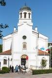 Iglesia ortodoxa en el centro de Pomorie, Bulgaria Imagen de archivo libre de regalías