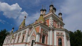 Iglesia ortodoxa en Grodno, Bielorrusia El templo es un lugar del rel Imágenes de archivo libres de regalías