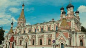 Iglesia ortodoxa en Grodno, Bielorrusia El templo es un lugar del rel Fotografía de archivo libre de regalías
