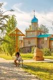 Iglesia ortodoxa en honor del gran mártir santo George el victorioso Solenoide-Iletsk Fotos de archivo