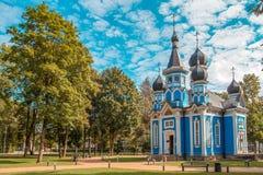 Iglesia ortodoxa en la ciudad de Druskininkai, Lituania Imagen de archivo libre de regalías