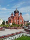 Iglesia ortodoxa en la ciudad rusa Tula imagenes de archivo