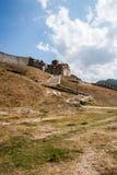 Iglesia ortodoxa en la fortaleza de Berat Imagen de archivo
