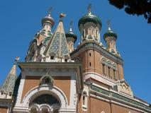 Iglesia ortodoxa en Niza Imágenes de archivo libres de regalías