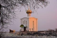 Iglesia ortodoxa en Rusia Foto de archivo libre de regalías