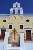 Iglesia ortodoxa en Santorini Fotografía de archivo libre de regalías