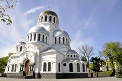 Iglesia ortodoxa famosa de Alexander Nevsky en Kamianets-Podilskyi, fotografía de archivo libre de regalías
